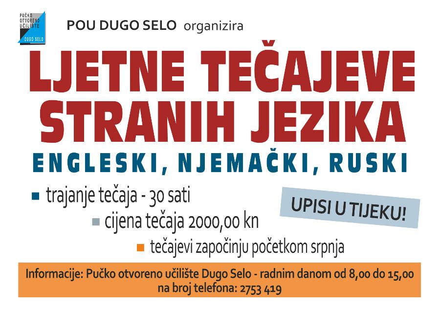 plakat ljetni tecajevi jezici
