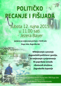 politicko pecanje i fisijada plakat A3 2015