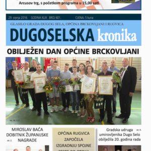 DUGOSELSKA KRONIKA BR 601 NASLOVNICA